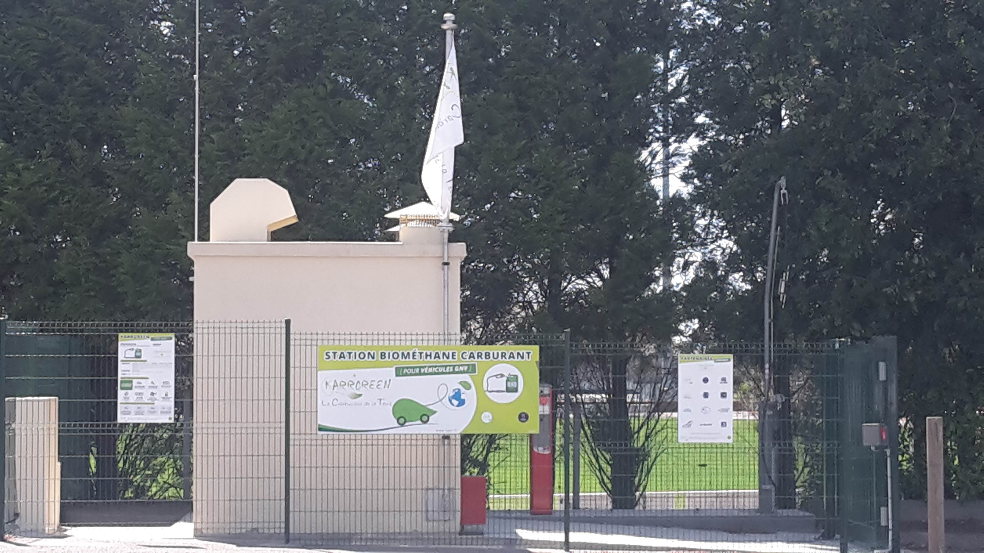 Installation station Bio-méthane